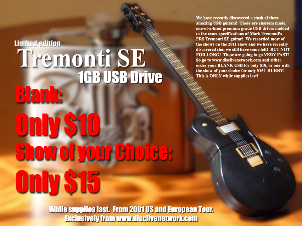 Tremonti USB Sale Graphic